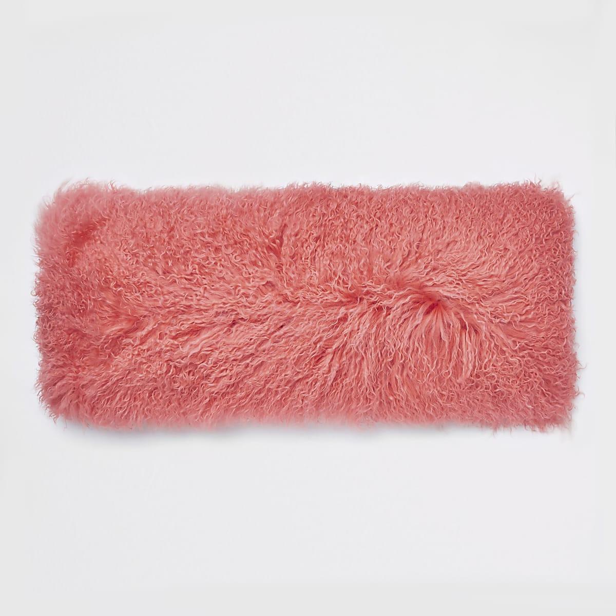 Coral Mongolian rectangle cushion