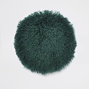 Dark green Mongolian round cushion