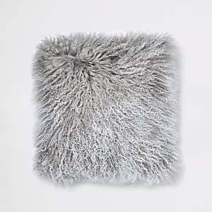 Grey tipped Mongolian cushion