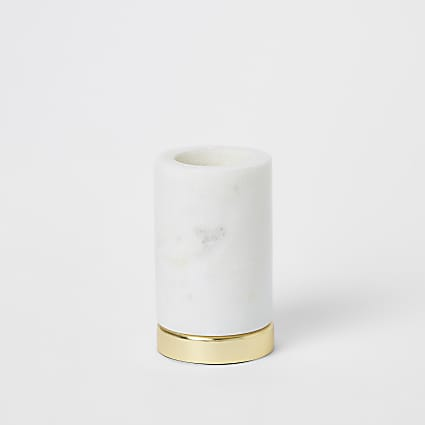 Large white marble tealight holder