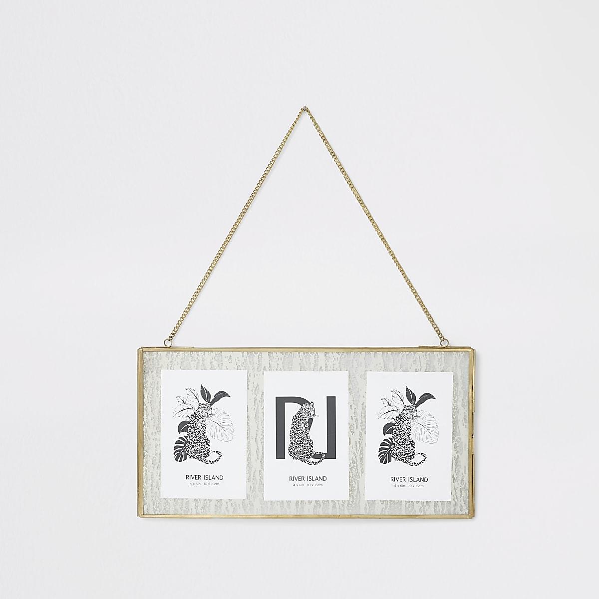 """3 4x6"""" hanging multi frame"""