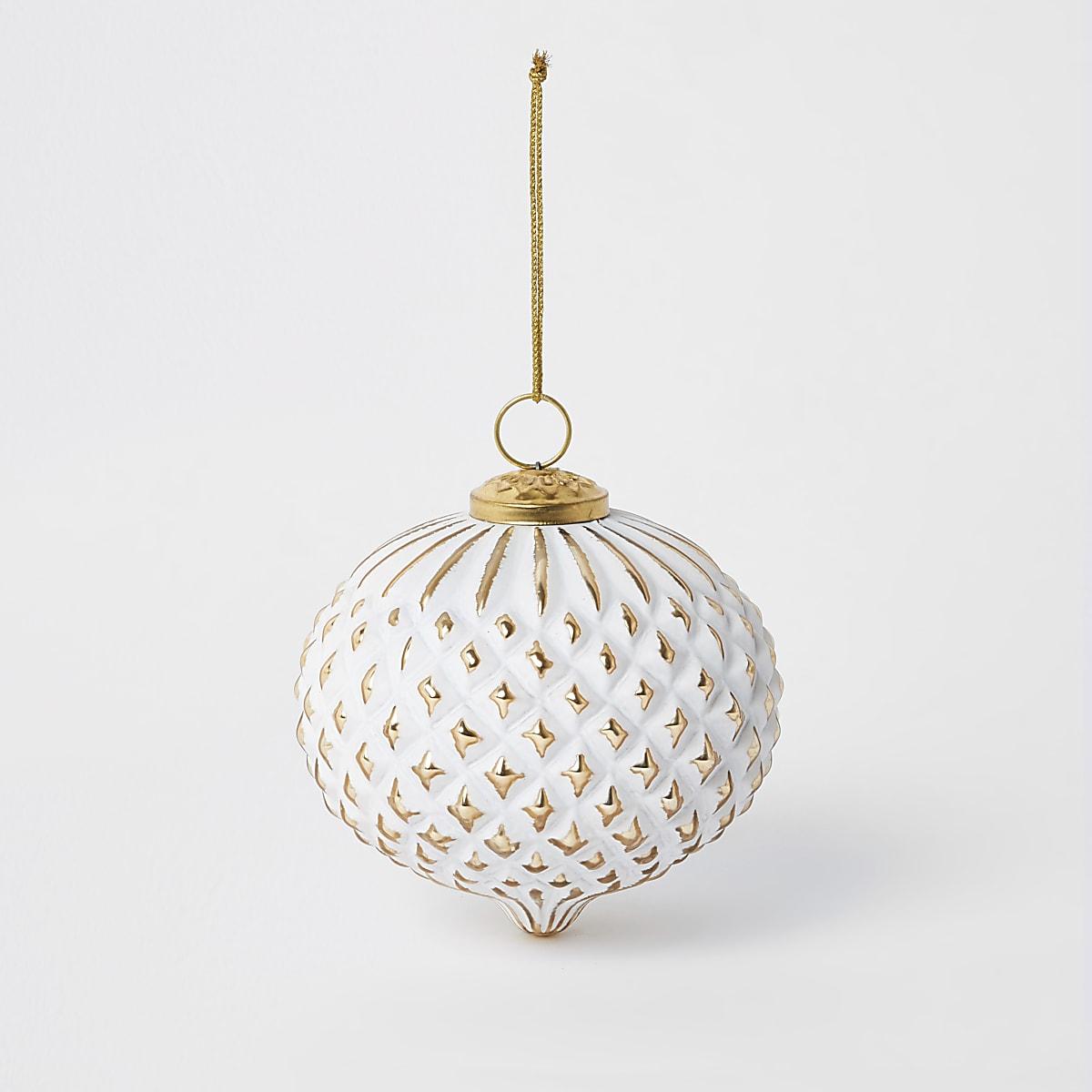 Gold & white diamond bauble