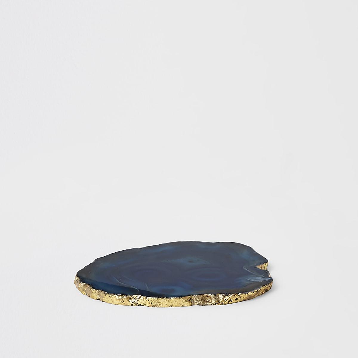 Blauwe agaat onderzetter