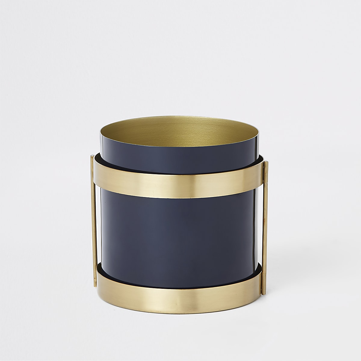 Dark blue steel planter
