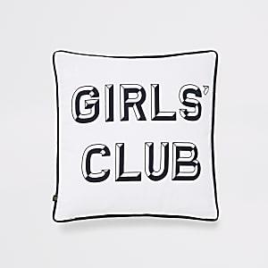 Girls club print cushion