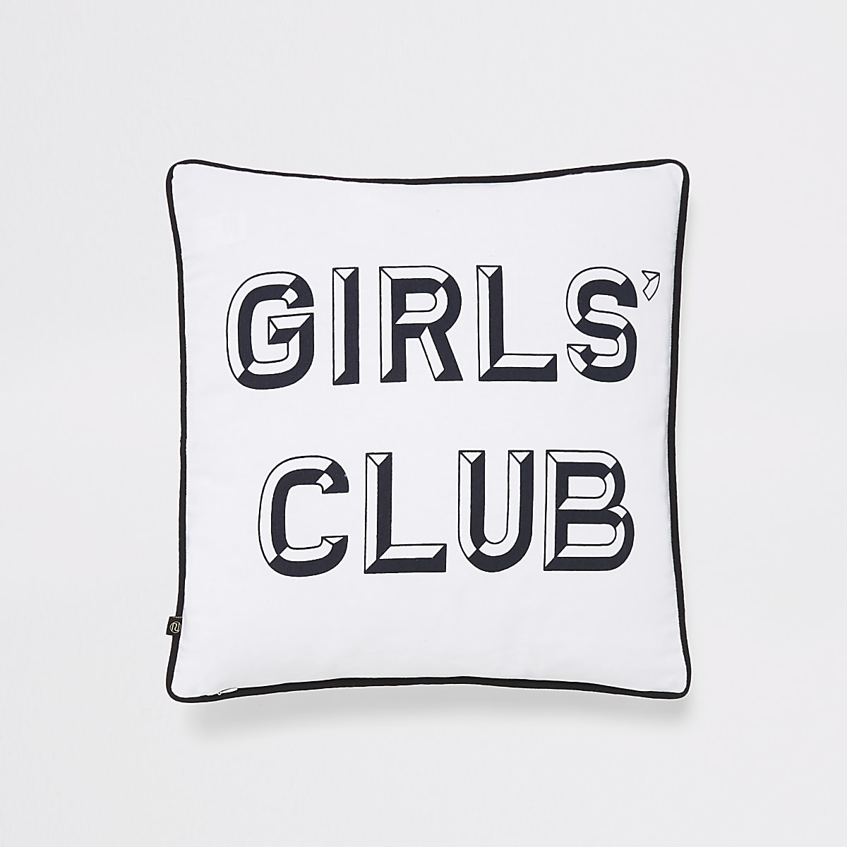 Girls club print cushion
