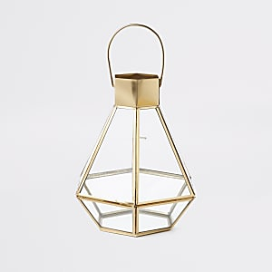 Gold small glass lantern