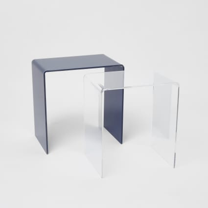 Navy and clear acrylic table set