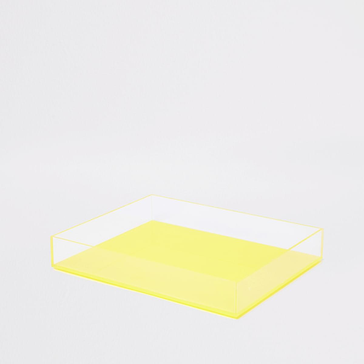 Small yellow acrylic tray