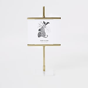 """Small gold 4x6"""" standing easel frame"""
