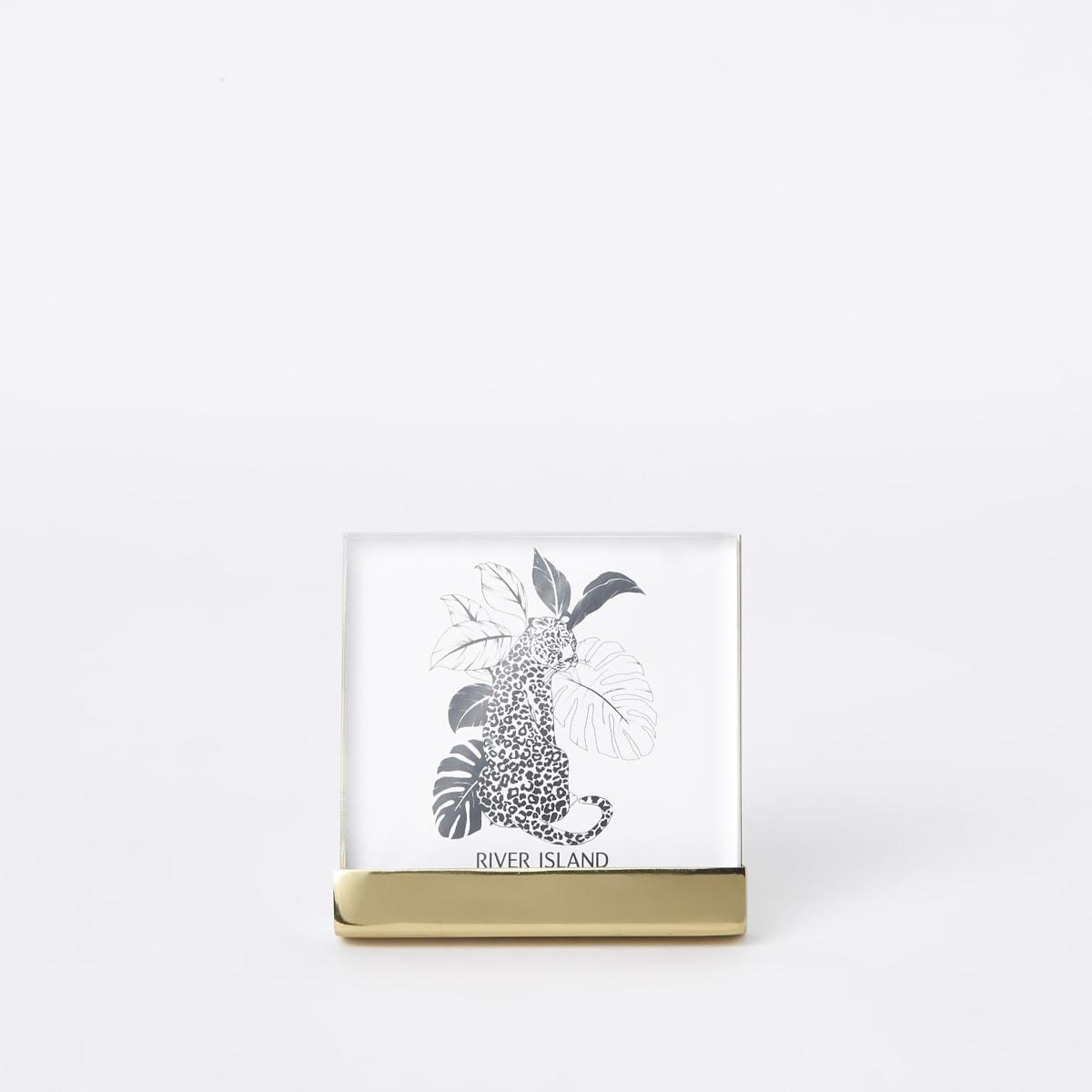 """Petit cadre photo en plexiglas doré – 4 x 4"""""""