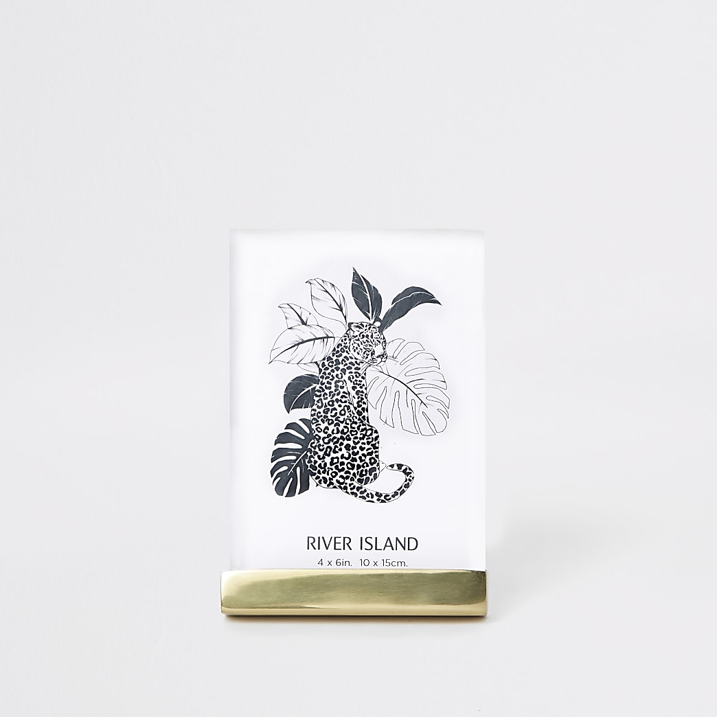 "Grand cadre photo en plexiglas doré – 4 x 6"""
