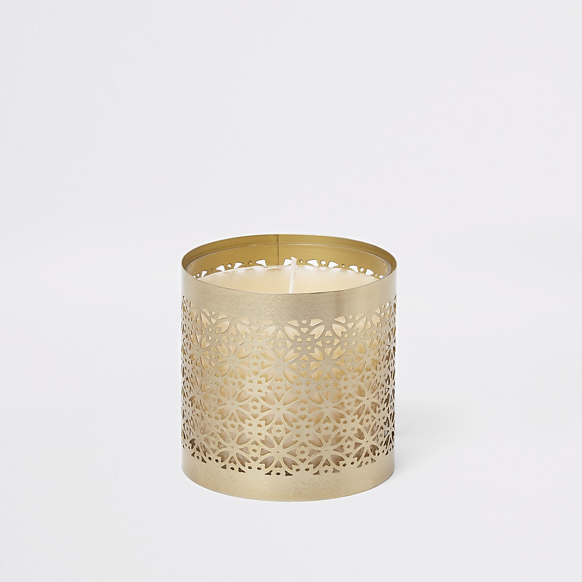 Gold small caged candle