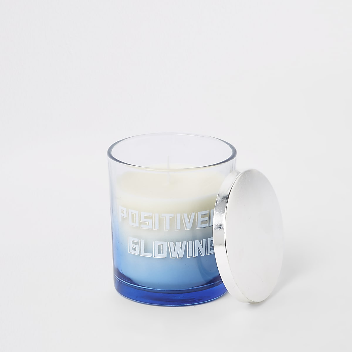White vanilla 'positively glowing' candle