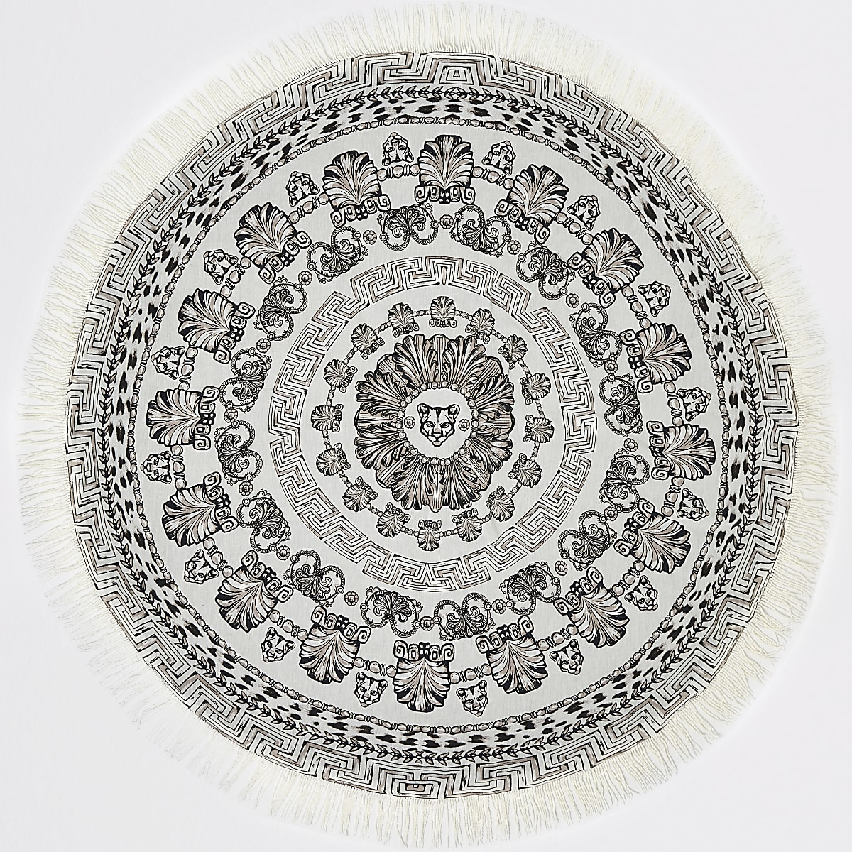 Mono panther print circle lightweight towel