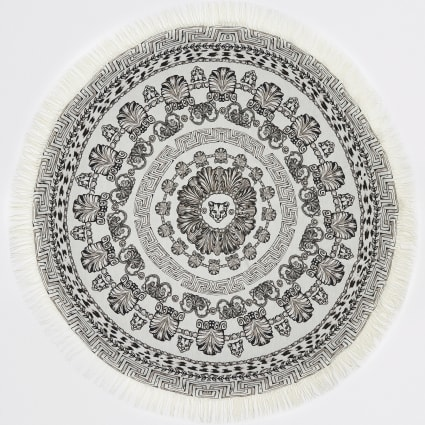Mono panther print circle lightweight towel