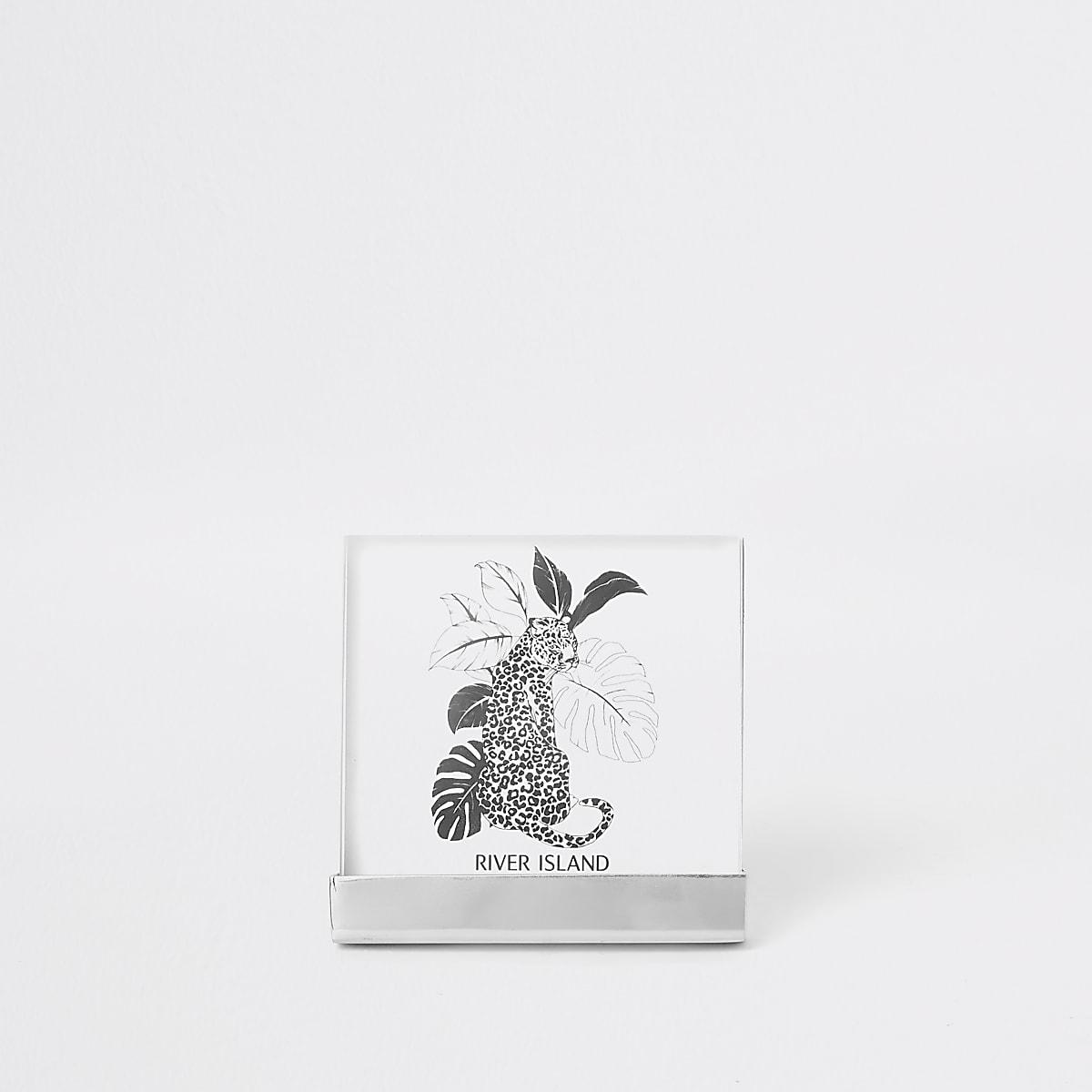 """Zilverkleurige kleine perspex fotolijst van 4x4"""""""