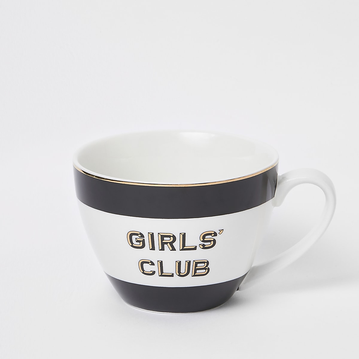 Black 'Girls club' bowl mug