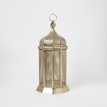 Gold large floor lantern