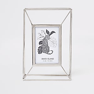 Silver large wired photo frame