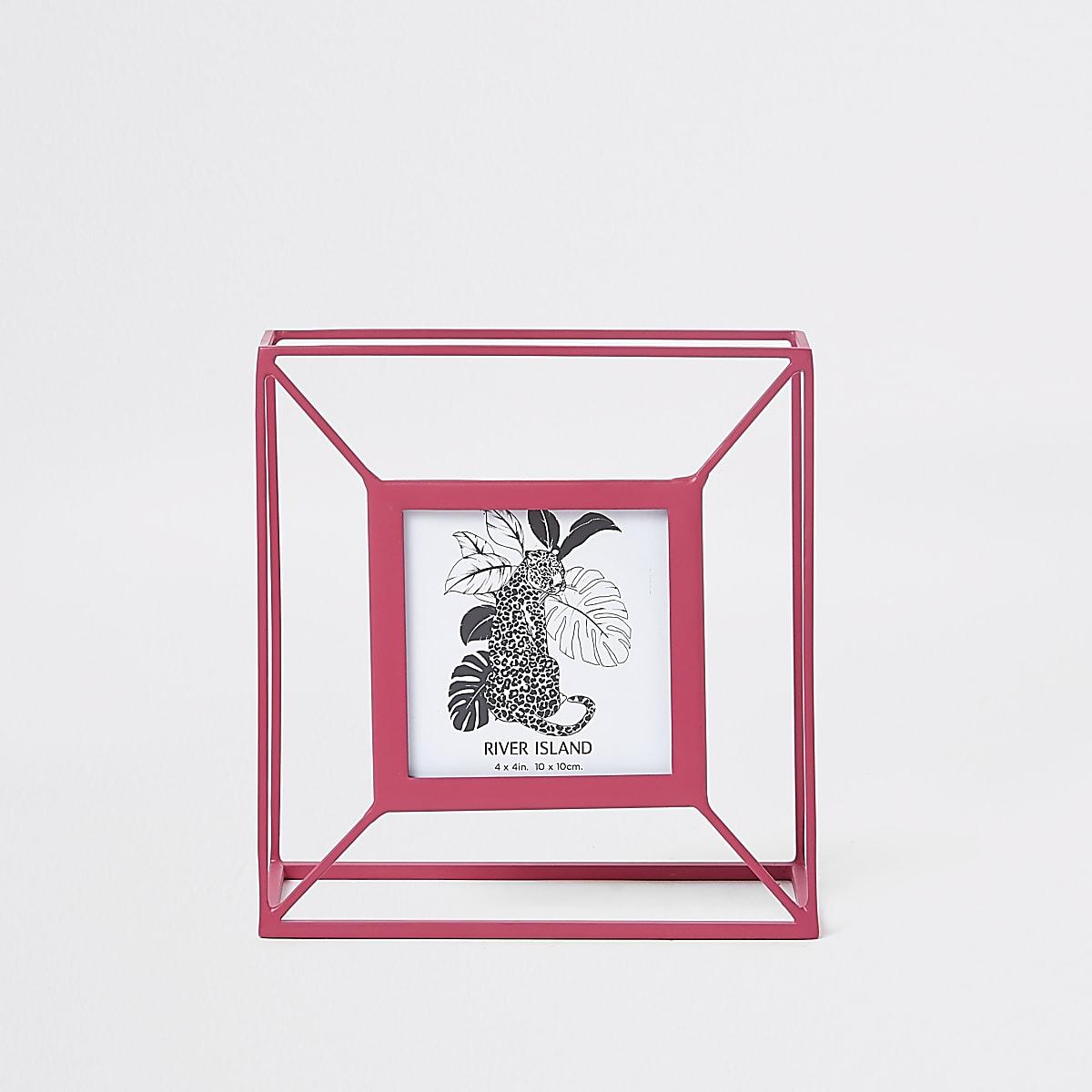 Roze kleine fotolijst
