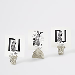 Silver mini animal picture holder frame set