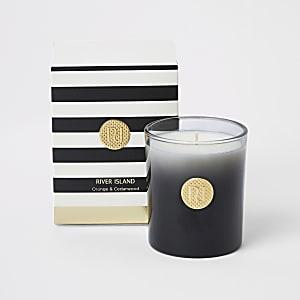 Orange & cedarwood scented monochrome candle