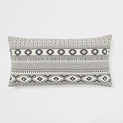 Cream geo aztec oversized long cushion