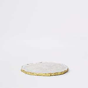 Sous-verre agate blanc