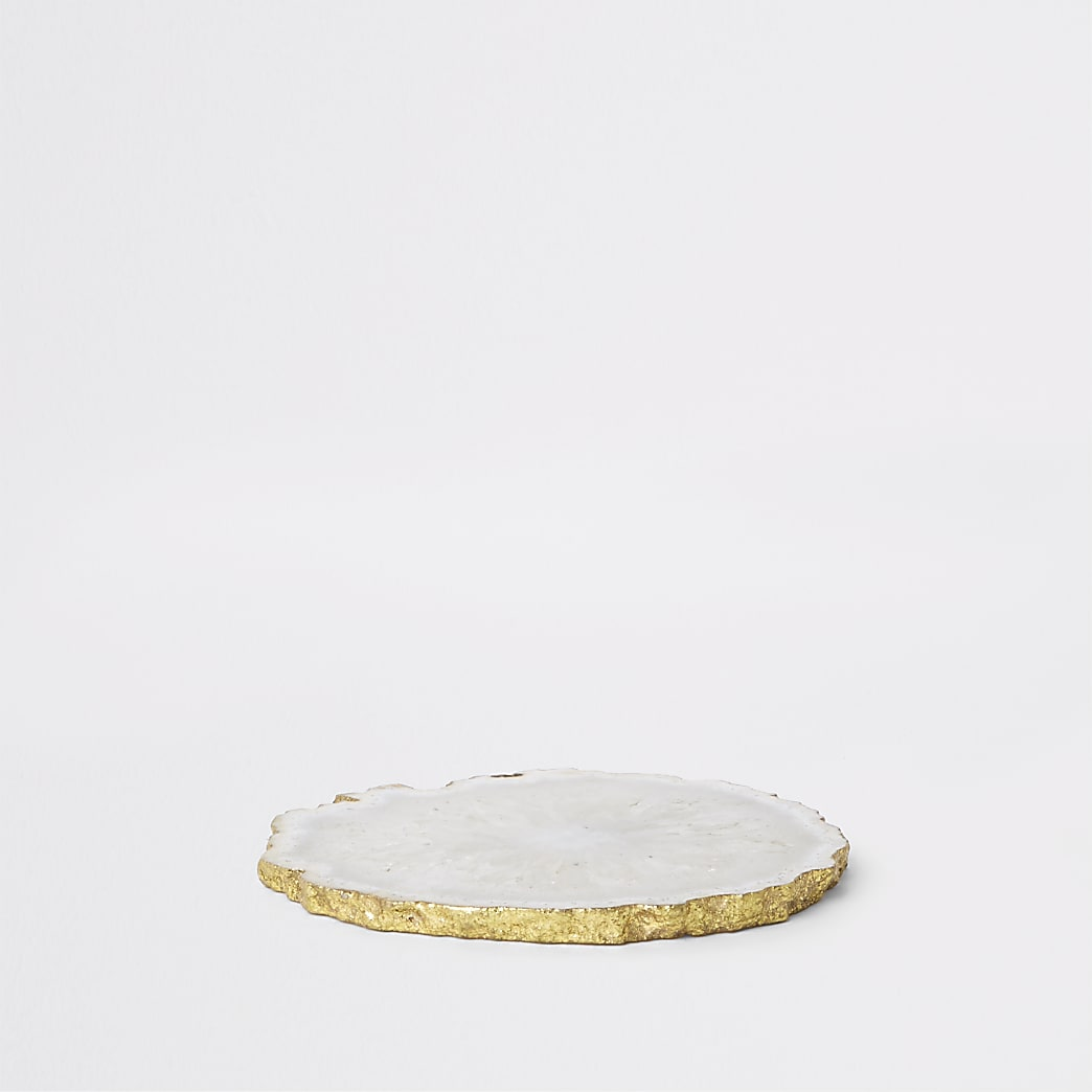 White agate coaster