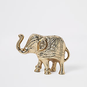 Gold elephant ornament