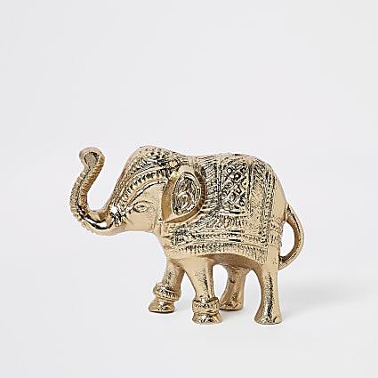 Gold elephant ornament