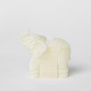 White elephant wax candle