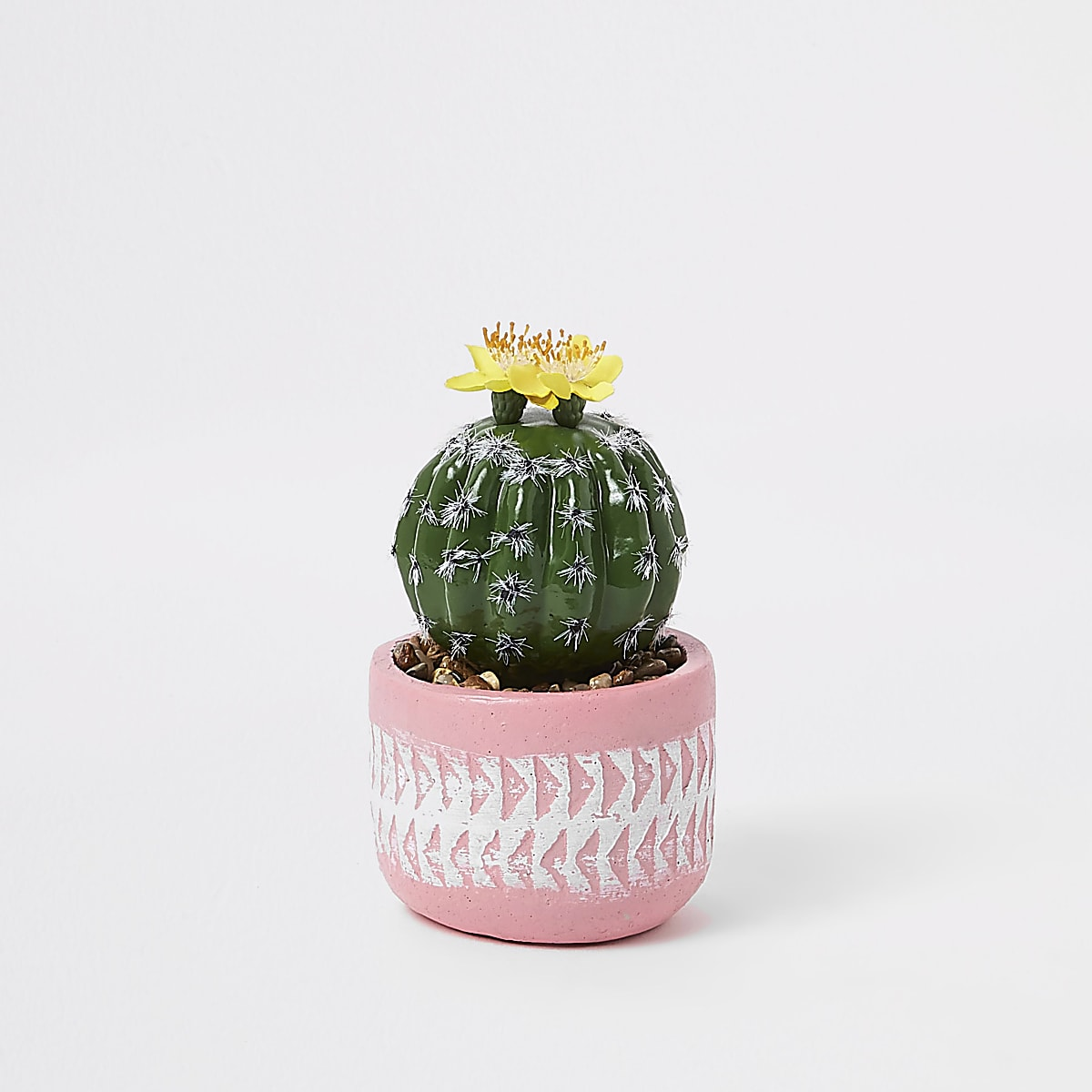 Pink small artificial succulent pot