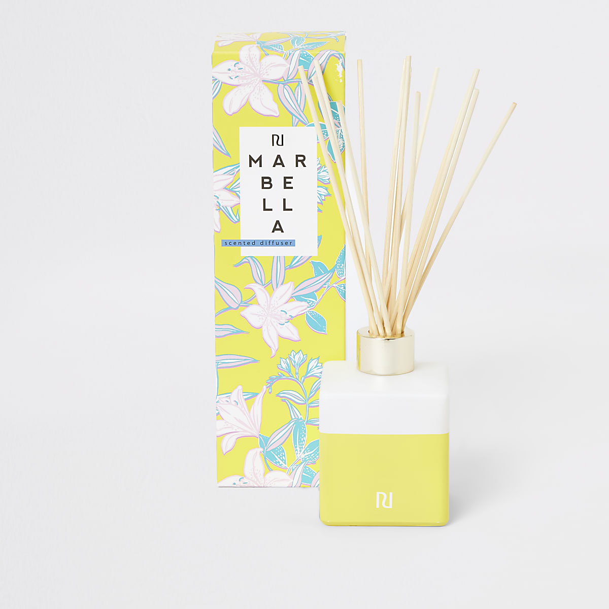 Yellow Marbella gardenia and vanilla diffuser