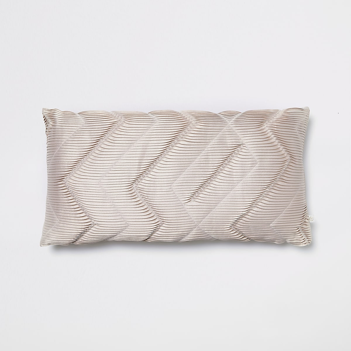 Pink pleated cushion