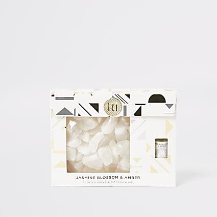 Gold jasmine & amber scented crystal gift set