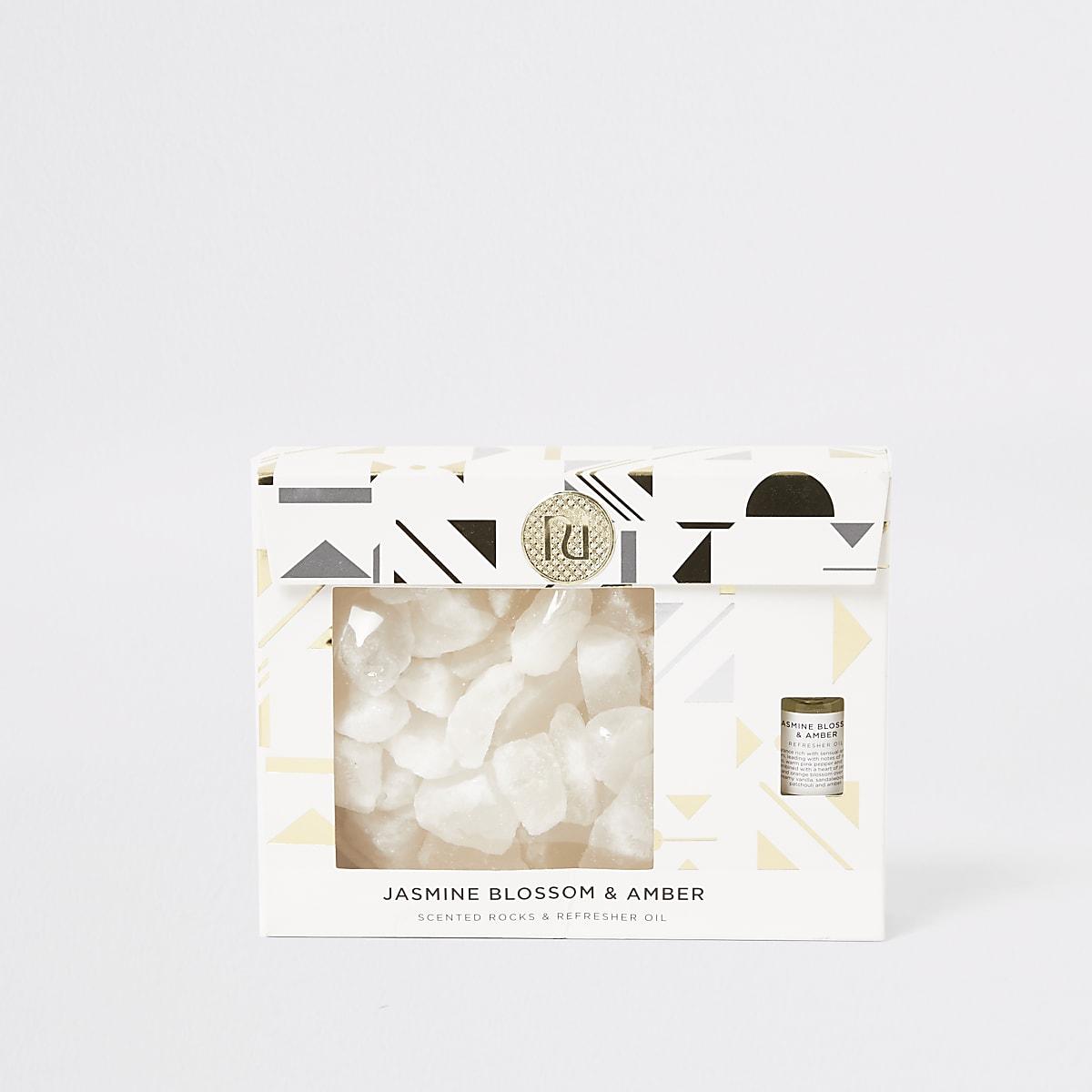 Amber & Jasmine - Gouden geurkristallen cadeau set