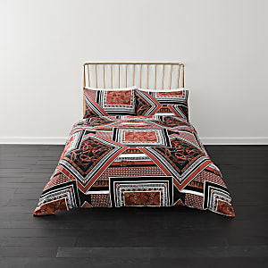 Rode king dekbedset met gesplitste print