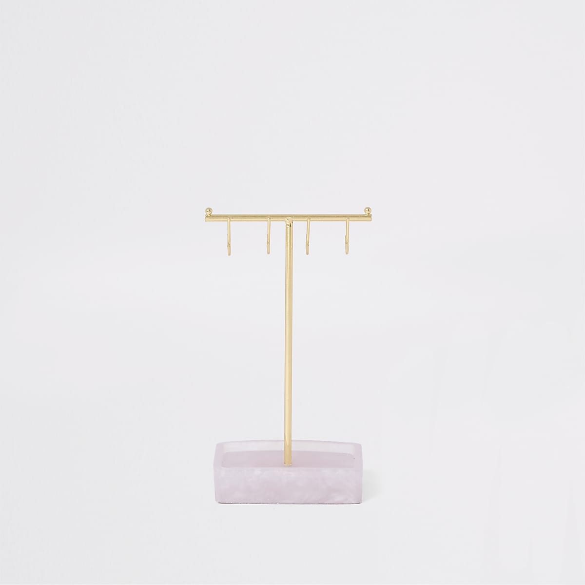Stackers rose quartz T-bar jewellery stand