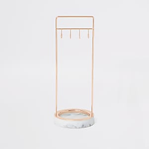 Stackers marble effect 8 hook jewellery stand