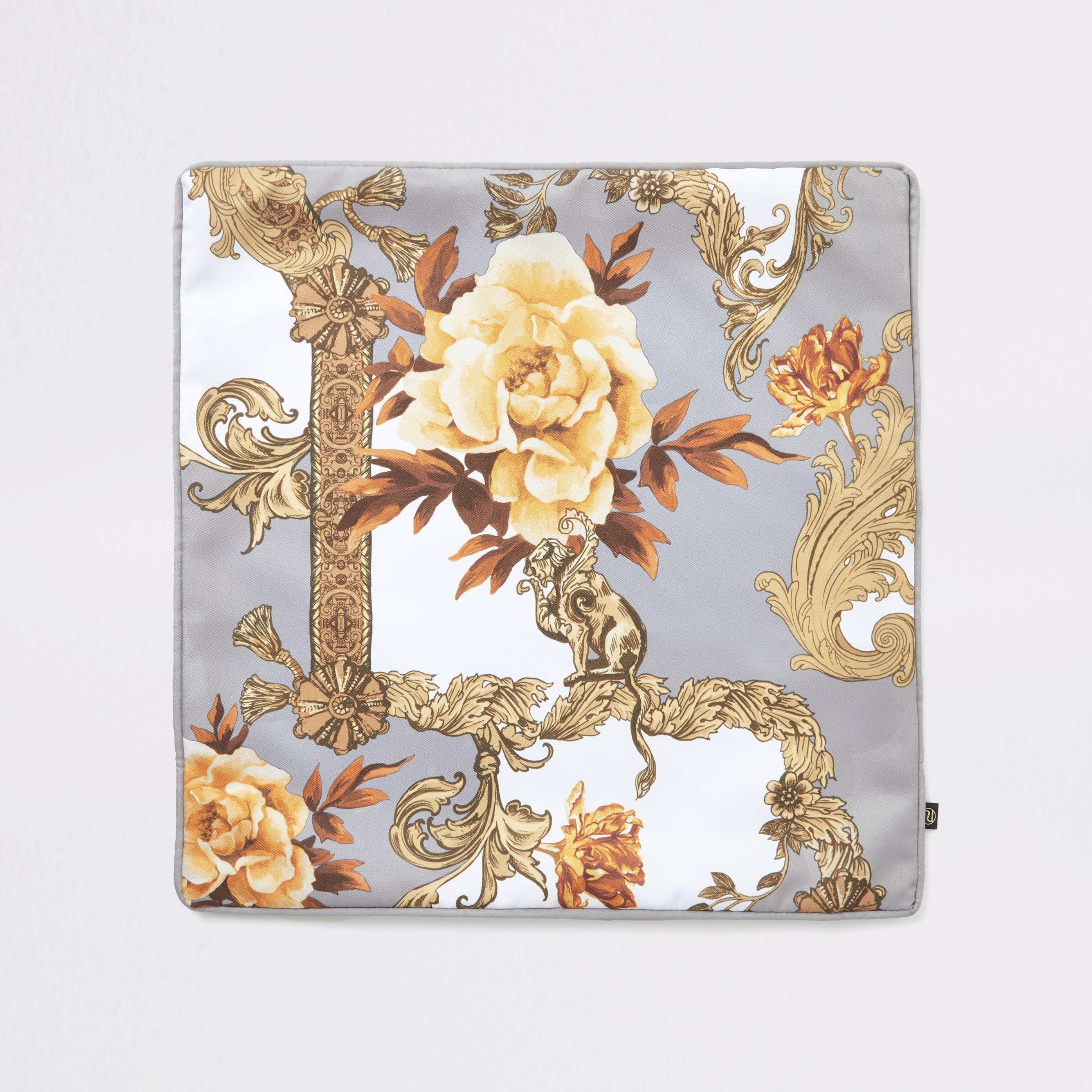 River Island - river island  baroque printed cushion - 1