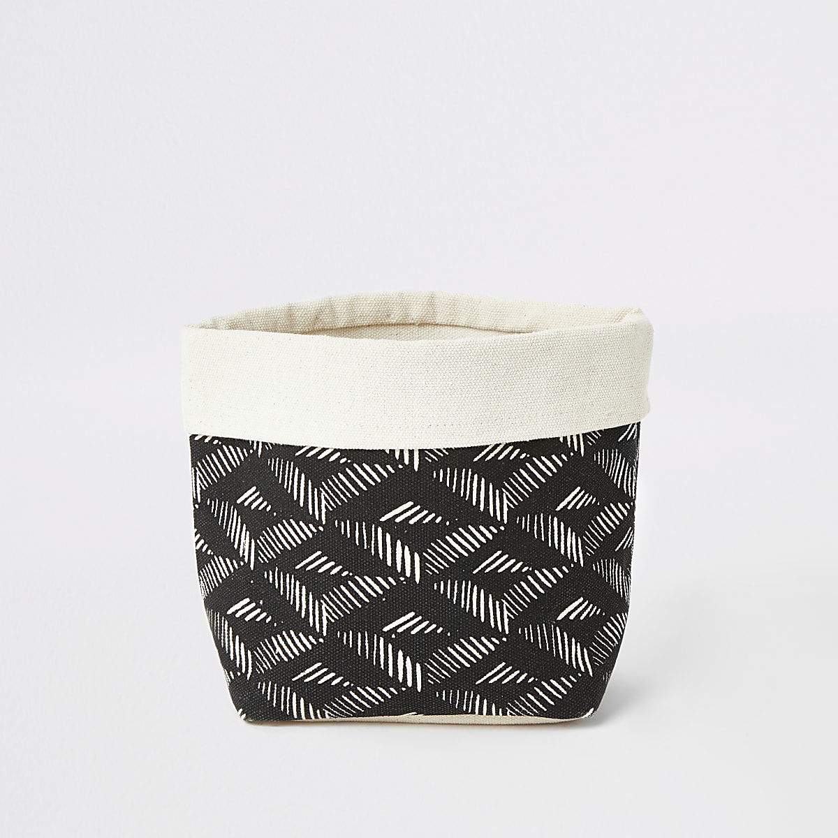 Chickidee black aztec storage basket