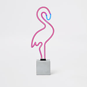 Locomocean Pink flamingo neon light sign