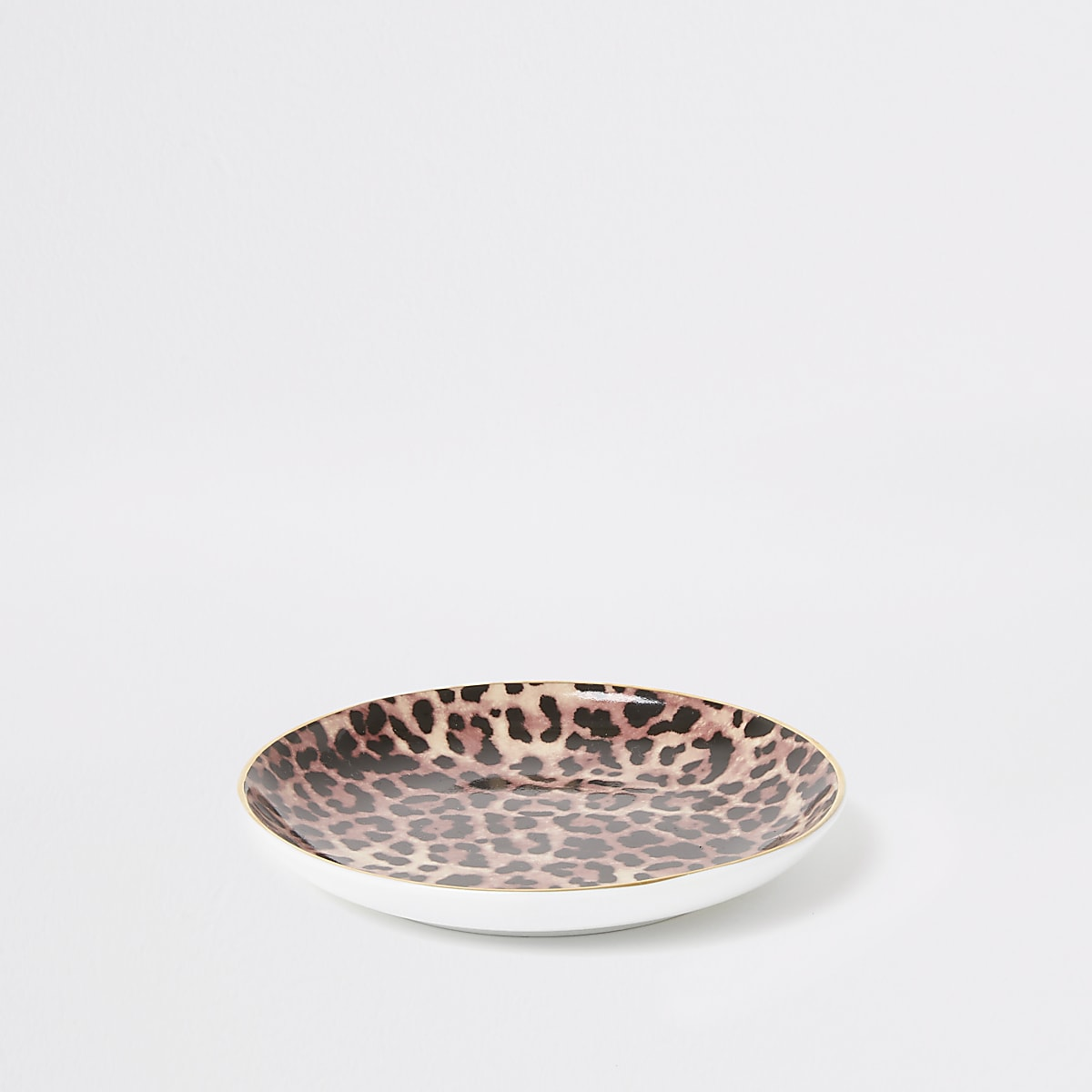 Brown leopard print trinket tray