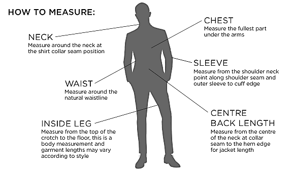 men suits - Size Guides - How Can We Help - River Island