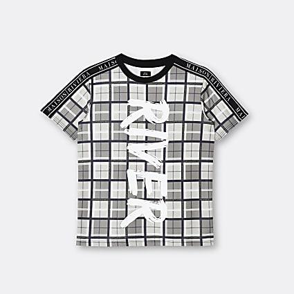 Age 13+ boys black graphic print t-shirt