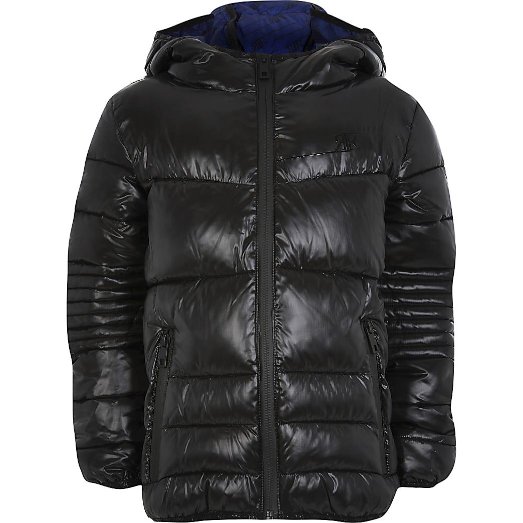 Age 13+ boys black padded jacket