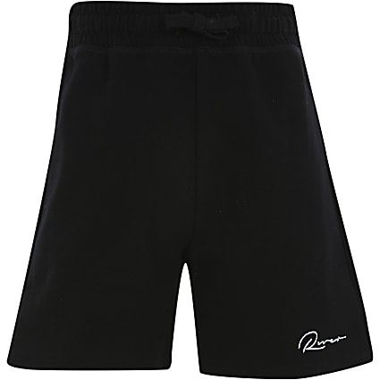 Age 13+ boys black 'River' shorts