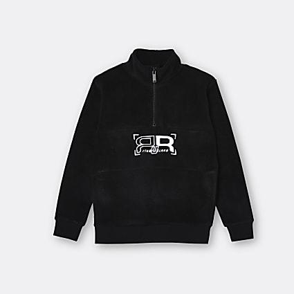 Age 13+ boys black RR fleece sweatshirt
